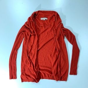 Ann Taylor LOFT Orange Rust Cardigan Open Sz XS